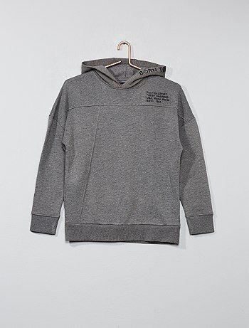 Jongenskleding 10-18 jaar - Sweater met rubber print - Kiabi