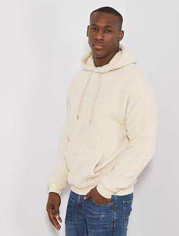 Herenmode maat S-XXL - Sweater met warme voering en capuchon - Kiabi