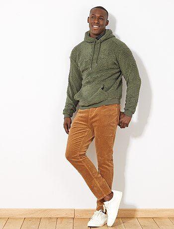Sweater met warme voering en capuchon - Kiabi