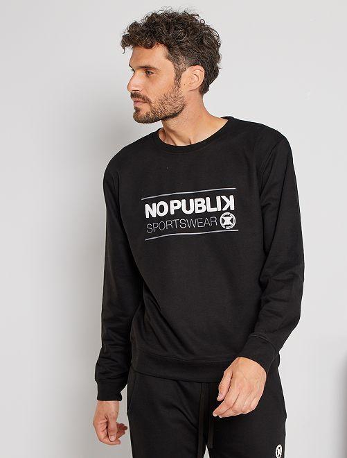 Sweater 'No Publik'                             zwart