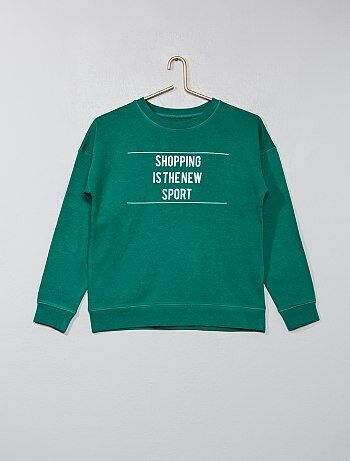 Sweater van joggingstof - Kiabi