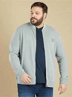 Sweater van joggingstof in bomberstijl - Kiabi