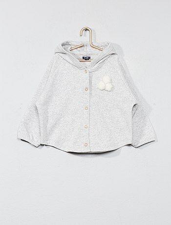 Sweater van joggingstof met kwastjes - Kiabi