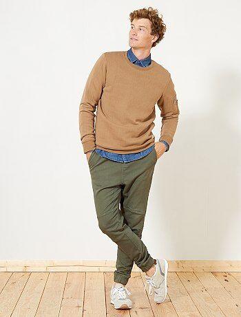 Sweater van joggingstof met zakje - Kiabi