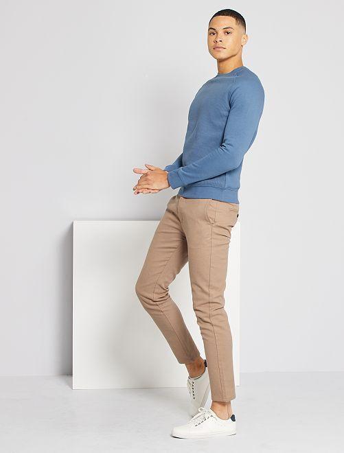 Sweater van molton 'Ecodesign'                                                                 BLAUW