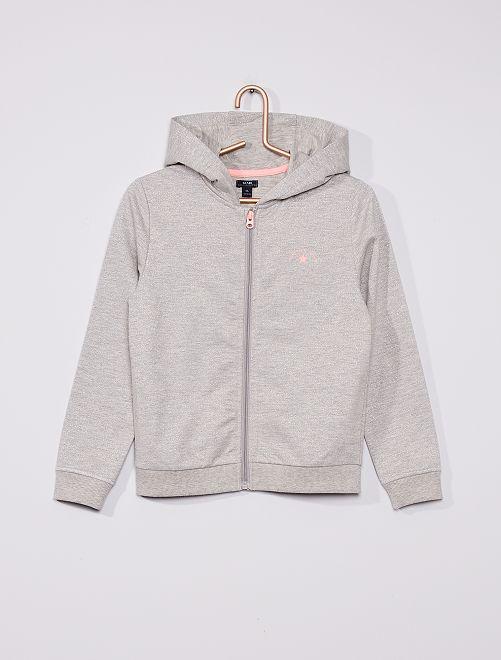 Sweater van molton                             GRIJS