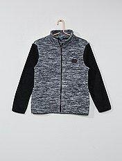 Sweater van tweekleurige fleece