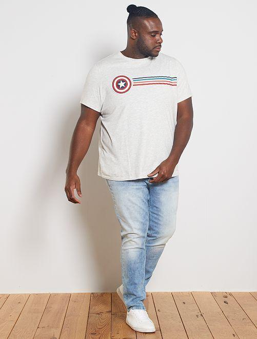 T-shirt 'Captain America'                                                     GRIJS
