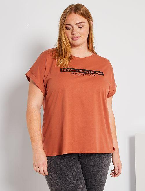 T-shirt 'Ecodesign'                                         ORANJE