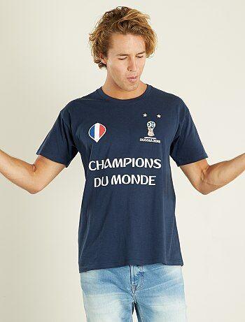 T-shirt Frankrijk 'Wereldkampioen' 2018 - Kiabi