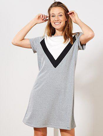 T-shirt-jurk in de stijl van een sweater - Kiabi