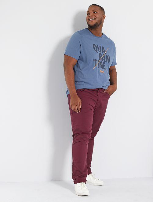 T-shirt 'lockdown' 'Ecodesign'                                                                 BLAUW