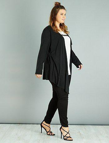 Dames Size+ - T-shirt met 2-in-1-effect - Kiabi
