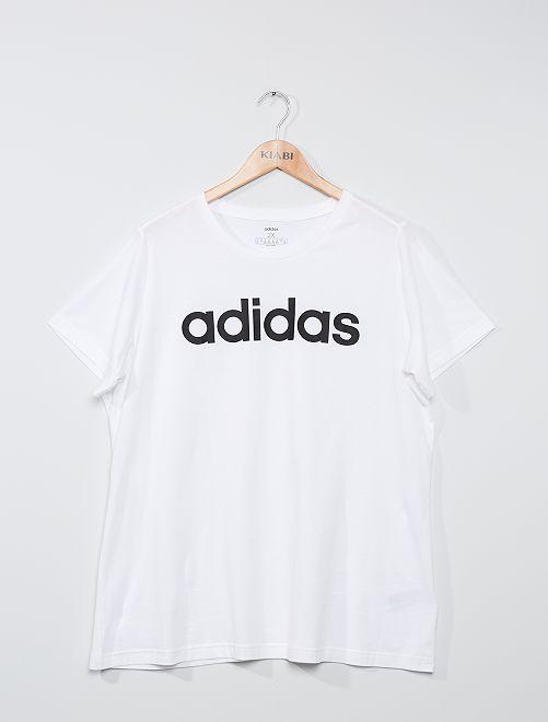 T-shirt met 'Adidas'-logo                             WIT