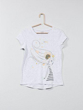 Meisjeskleding 3-12 jaar - T-shirt met animatie - Kiabi