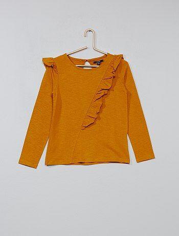 T-shirt met asymmetrische ruches - Kiabi