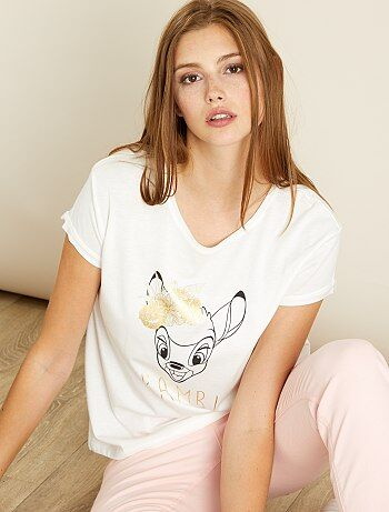 T-shirt met 'Bambi'-print - Kiabi