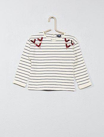 T-shirt met borduursel - Kiabi