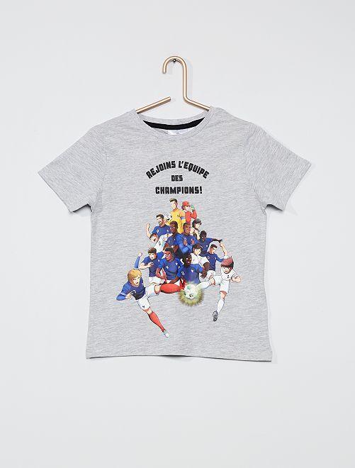 T-shirt met 'Captain Tsubasa'-print                                                     GRIJS