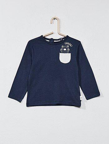 T-shirt met een bewerkt borstzakje - Kiabi