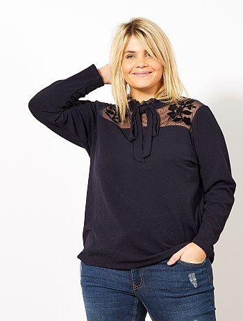 T-shirt met een kraag met een strik - Kiabi