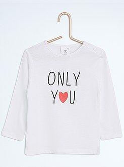 T-shirt met een print en lange mouwen