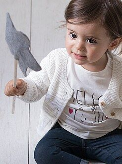Meisje 0-36 maanden T-shirt met een print en lange mouwen