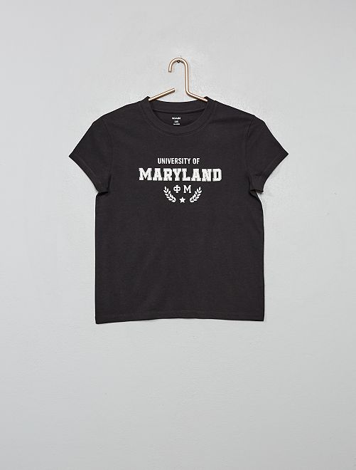 T-shirt met 'Florida'-print                                             ZWART
