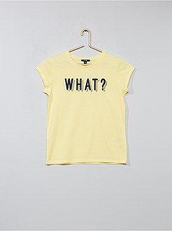 T-shirt met 'Girl Gang'-print - Kiabi