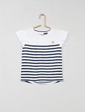 T-shirt met glanzend hart - Kiabi