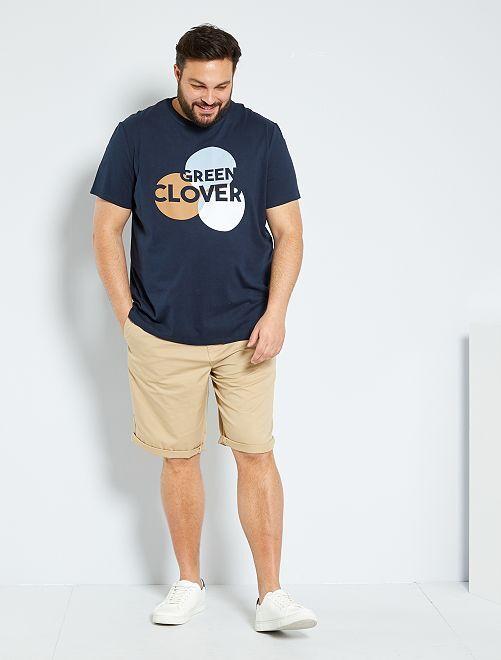 T-shirt met grafische print 'Ecodesign'                                         BLAUW