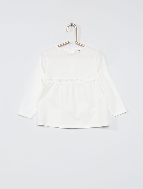 T-shirt met lange mouwen 'Ecodesign'                                                                 sneeuw wit