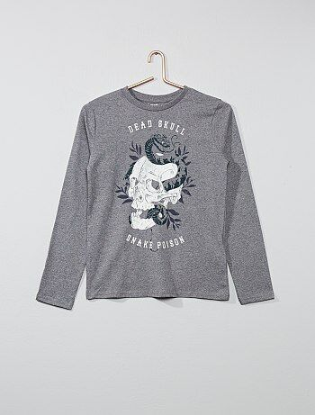 T-shirt met lange mouwen en een print - Kiabi