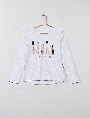 T-shirt met lange mouwen en print - Kiabi