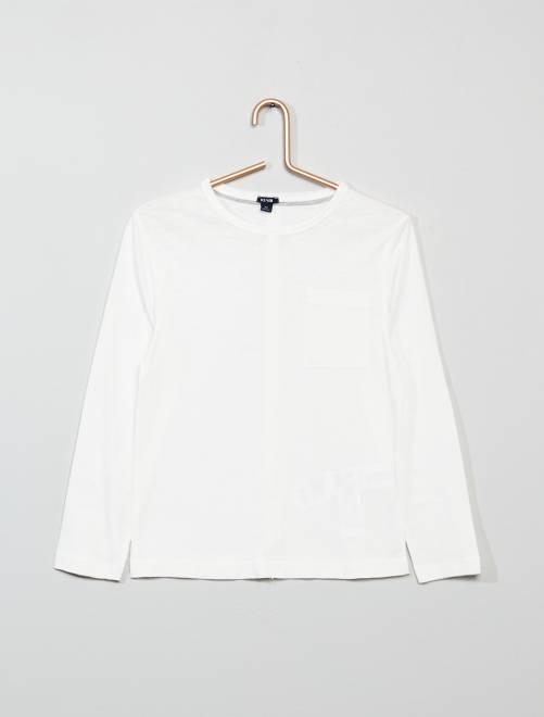 T-shirt met lange mouwen                                                                             sneeuw wit Kinderkleding jongens