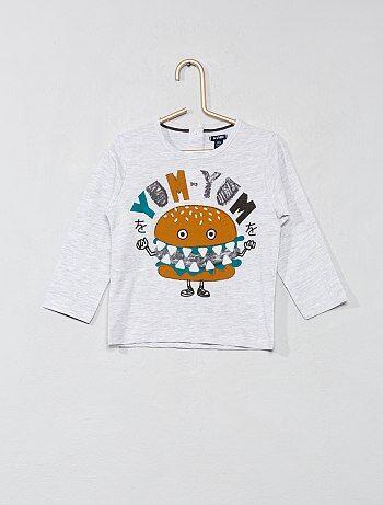 Jongen 0-36 maanden - T-shirt met lange mouwen van 100% katoen - Kiabi