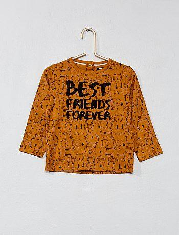 T-shirt met lange mouwen van 100% katoen - Kiabi