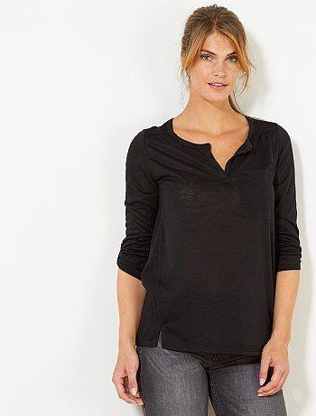 T-shirt met lange mouwen - Kiabi