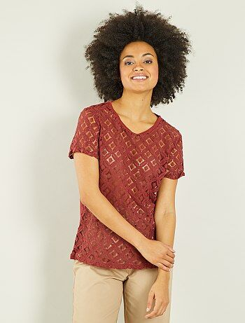 T-shirt met macramé - Kiabi