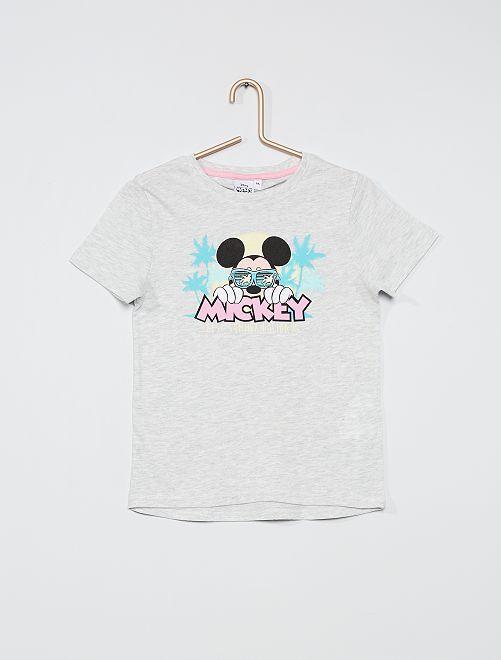 T-shirt met 'Mickey'-print                             GRIJS