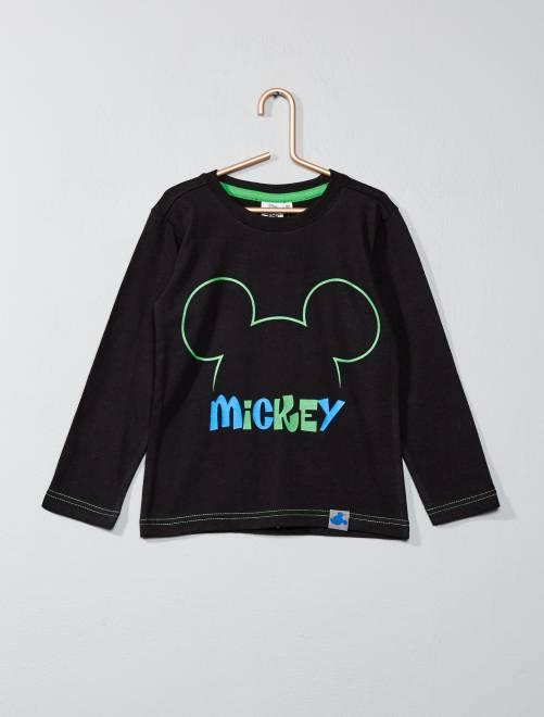 T-shirt met 'Mickey'-print zwart Kinderkleding jongens