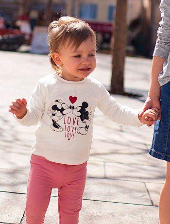 Meisje 0-36 maanden - T-shirt met 'Minnie'-print - Kiabi