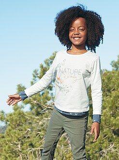 Meisjes t-shirts - T-shirt met natuurprint