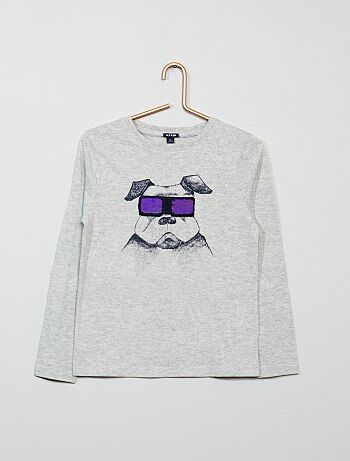 T-shirt met omkeerbare lovertjes - Kiabi