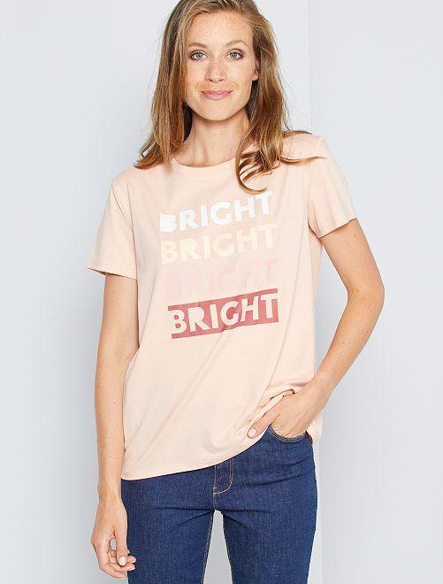 T-shirt met opschrift 'Ecodesign'                                                                                                                                                                                                                                                     ROSE