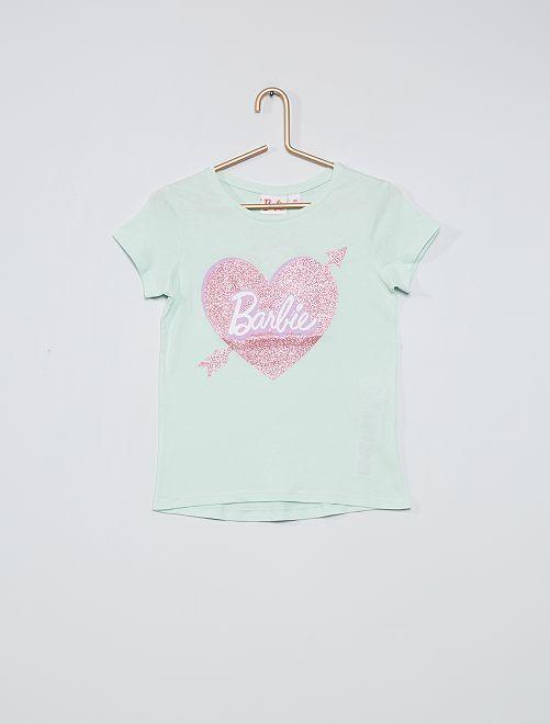 T-shirt met pailletten 'Barbie'                                         GROEN