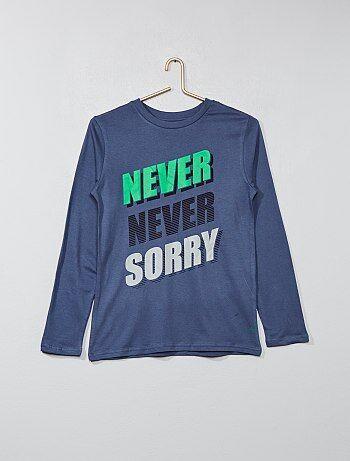 Jongenskleding 10-18 jaar - T-shirt met print - Kiabi