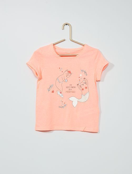 T-shirt met print 'Ecodesign'                                                                 ROSE