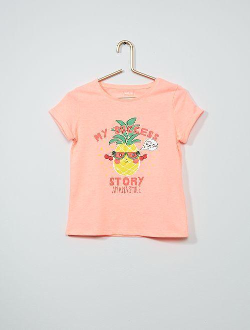T-shirt met print 'Ecodesign'                             ROSE