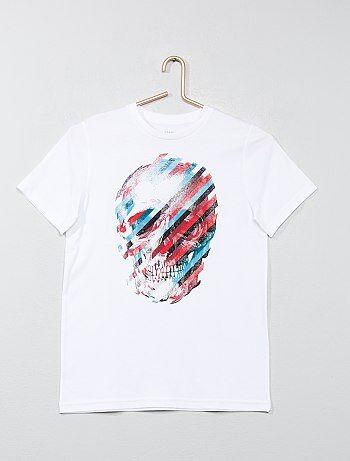 T-shirt met print en korte mouwen - Kiabi
